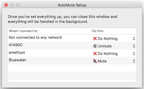 AutoMute Setup