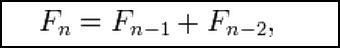 Fibonacci Sequence formula