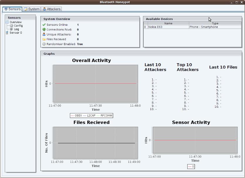Bluepot Bluetooth Honeypot Screenshot