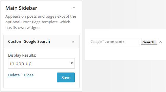 Custom Google Search - Widget