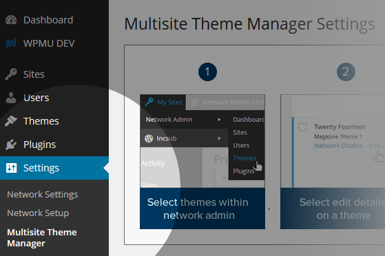 Multisite Theme Manager Network