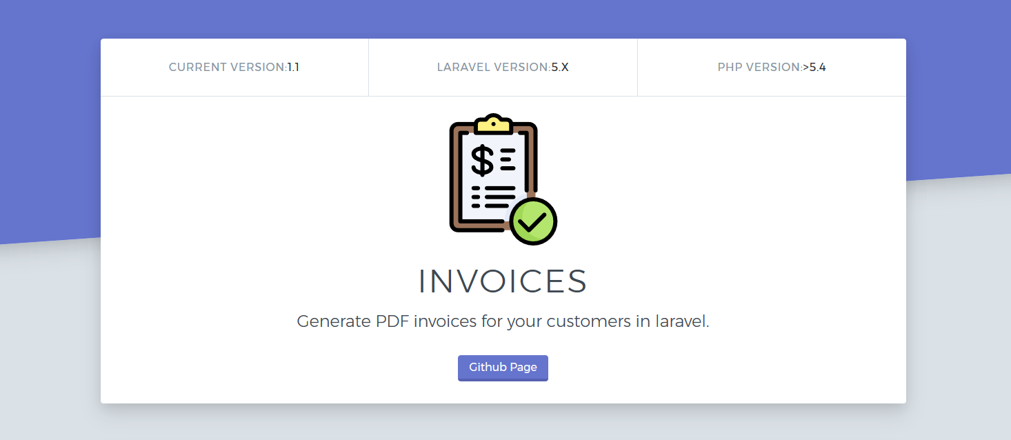 Github Newridetech Invoices Generate Pdf Invoices For Your Customers In Laravel
