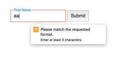 HTML5 validation error in Chrome