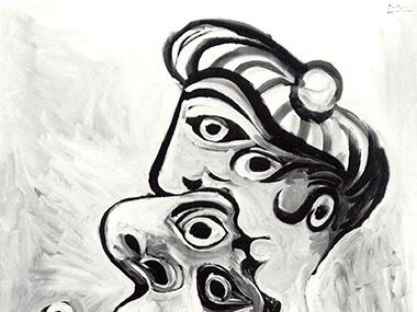 Pablo Picasso, 1969 — Homme et femme- bustes