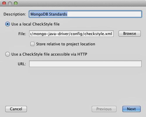 New CheckStyle configuration