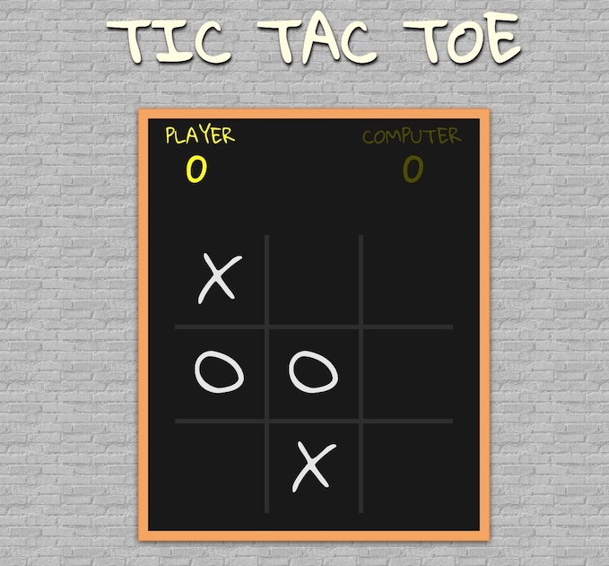 Screenshot of my tic tac toe game built in React