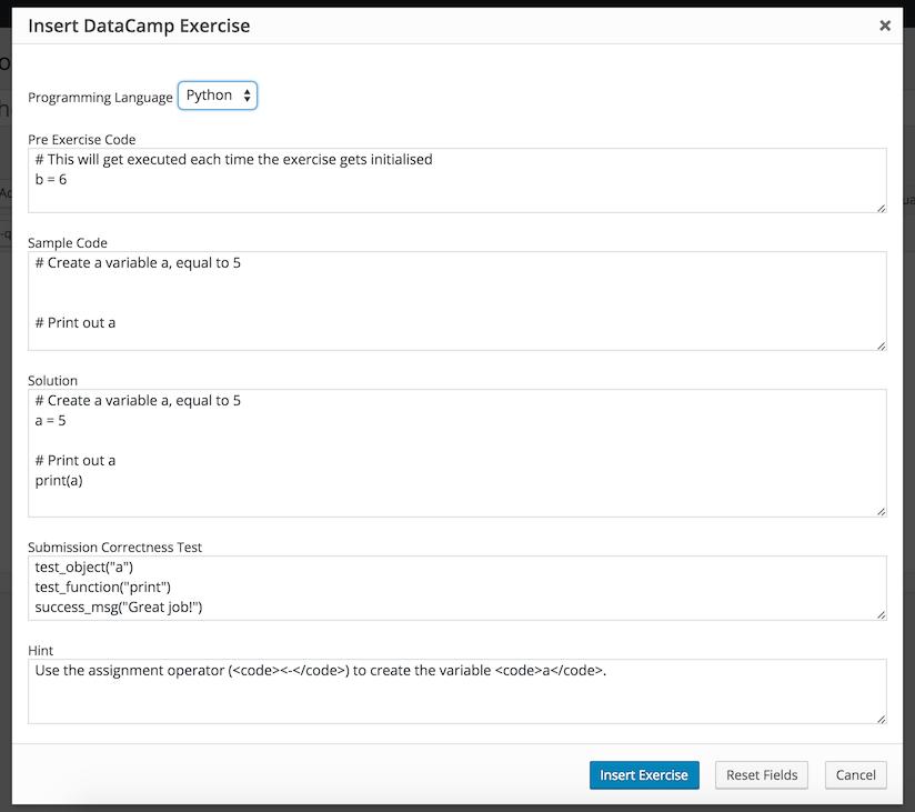GitHub - datacamp/datacamp-light-wordpress: A WordPress Plugin that