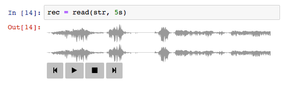 Example of SampleBuf display in a Jupyter Notebook