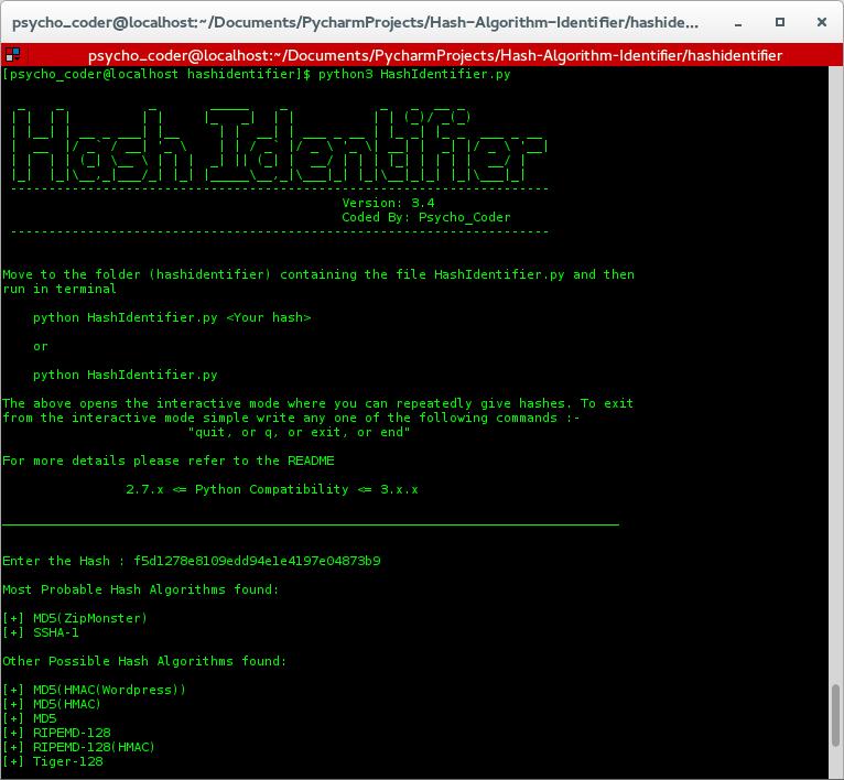 Hash Algorithm Identifier User Guide · AnimeshShaw/Hash