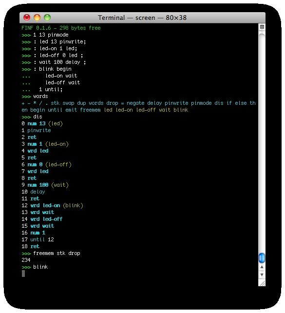 terminal mode screenshot!