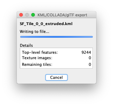 Export Progress Screenshot