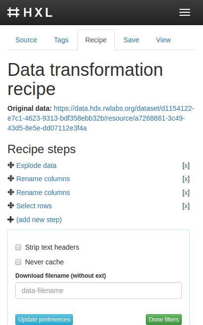HXL Proxy screenshot.