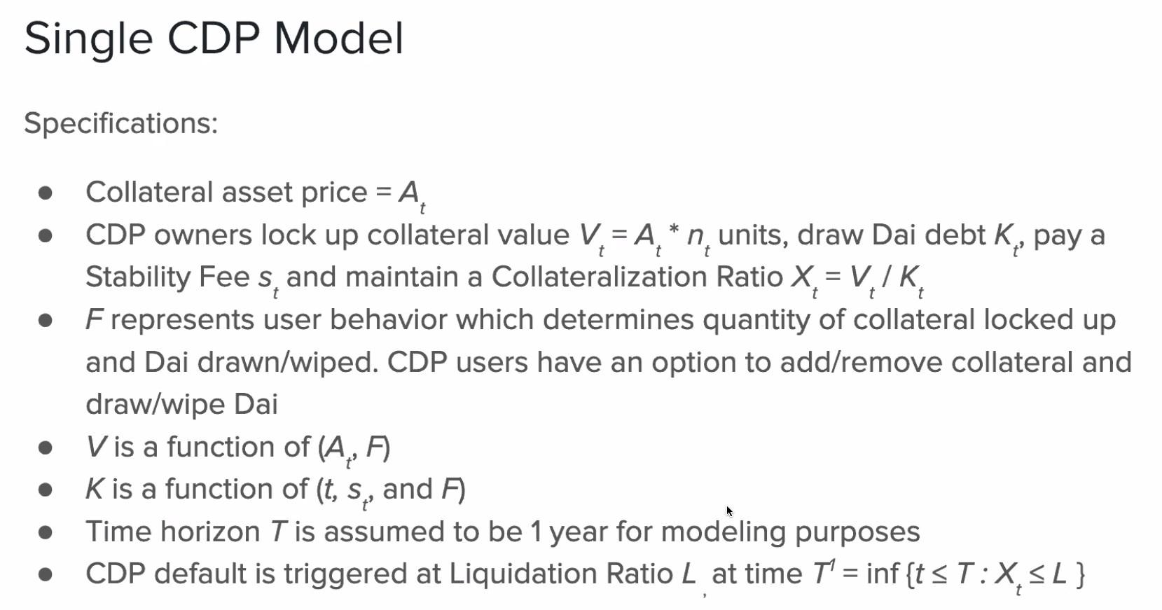 Single CDP Model 1