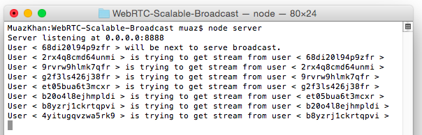 WebRTC Scalable Broadcast