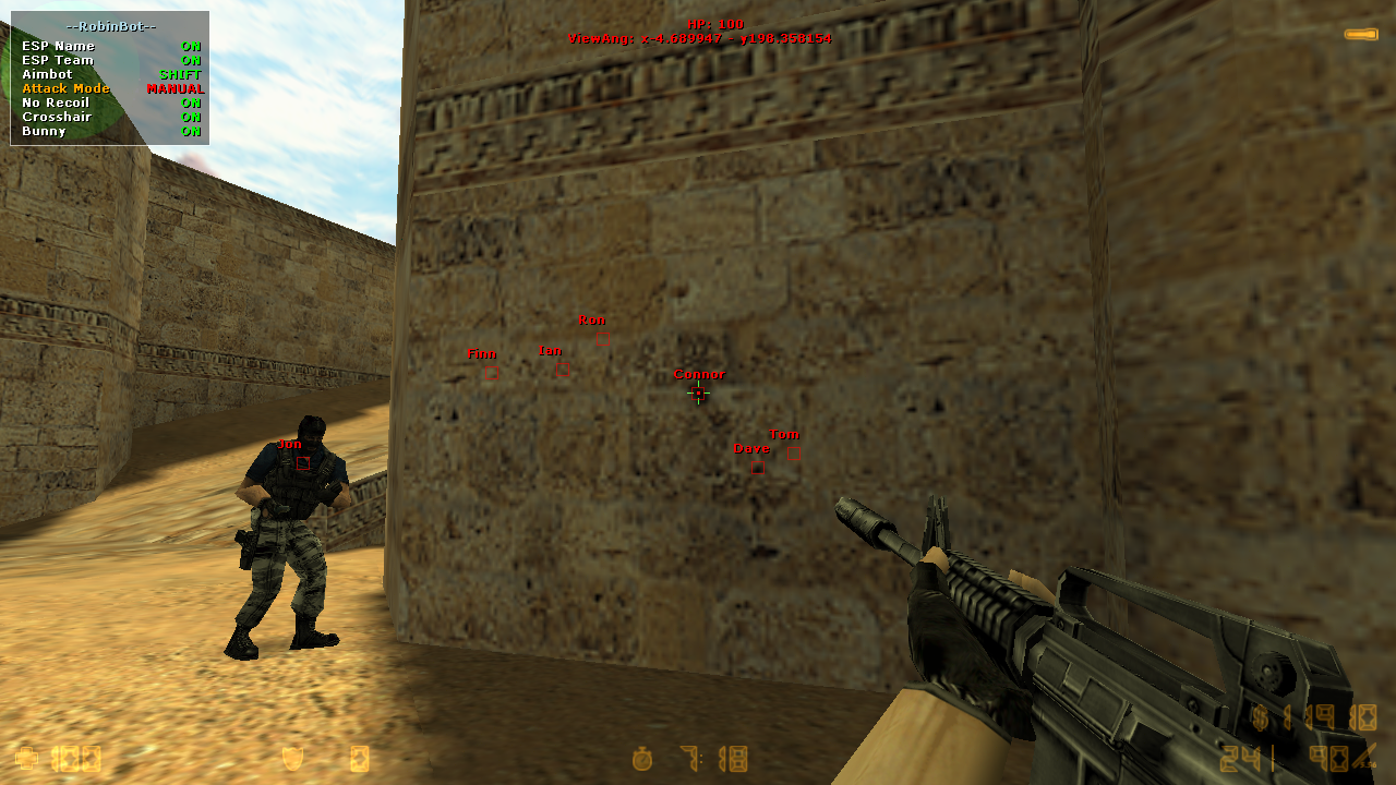 counter strike source hack aimbot wallhack no recoil
