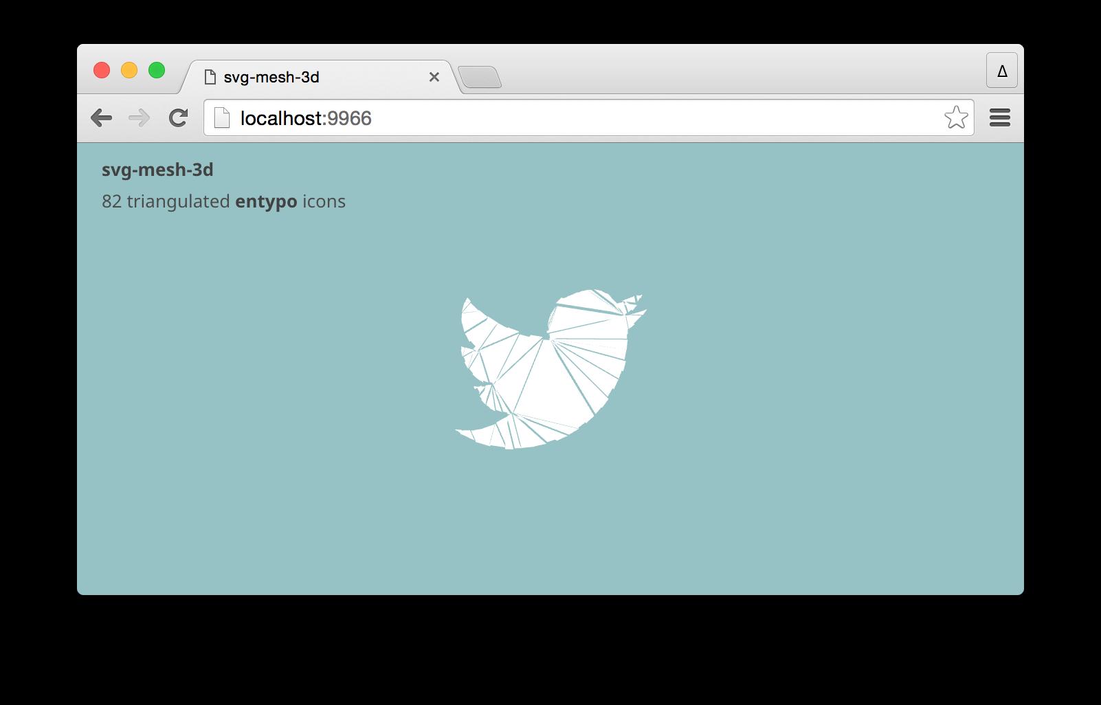 GitHub - mattdesl/svg-mesh-3d: converts a SVG path to a 3D mesh