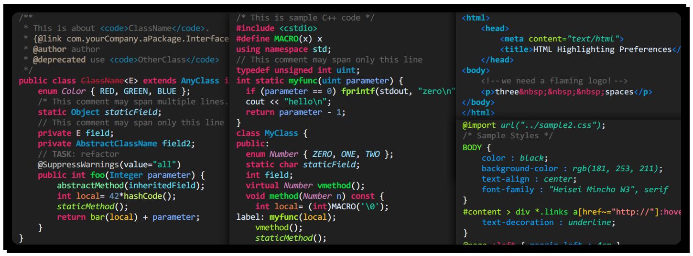 dark theme html
