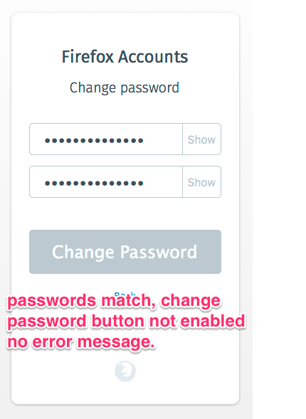 Better messaging on /change_password when the old and new password