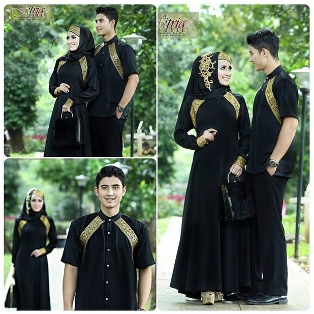 Model Baju Couple Muslim Terbaru 2017