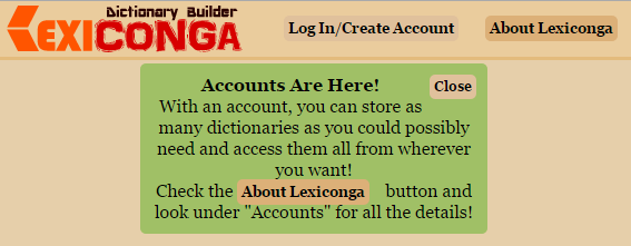 Lexiconga Accounts