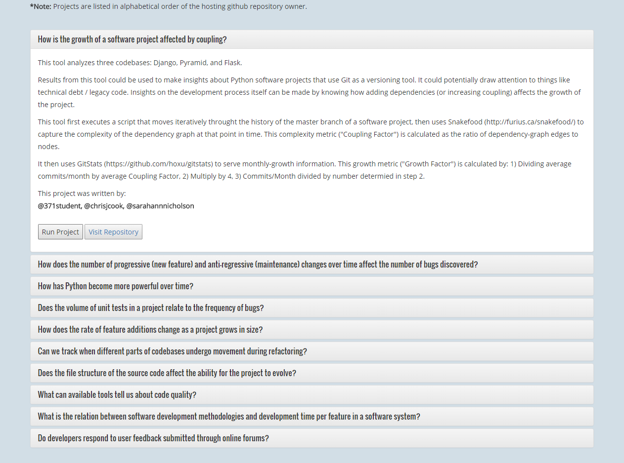 QuestionsList