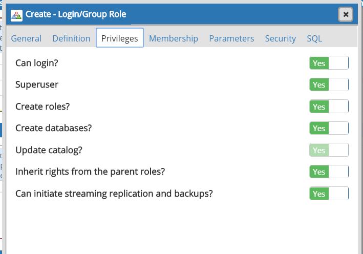 create user permissions