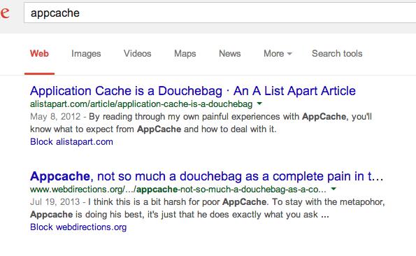 poor appcache
