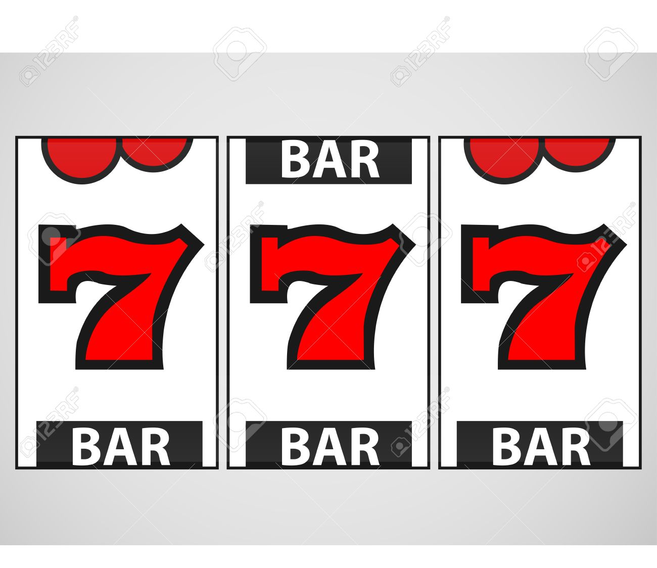 slot machine numbers font