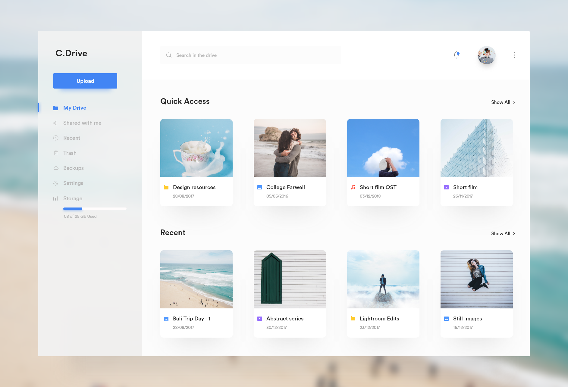 Fluent design drive by Kalesh