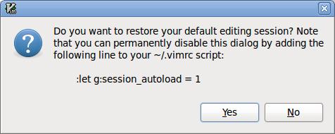 Screenshot of auto-open prompt