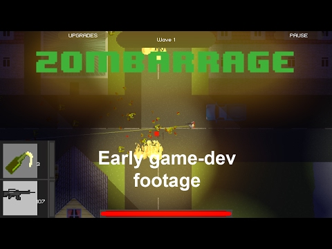 ZomBarrage - early development game footage
