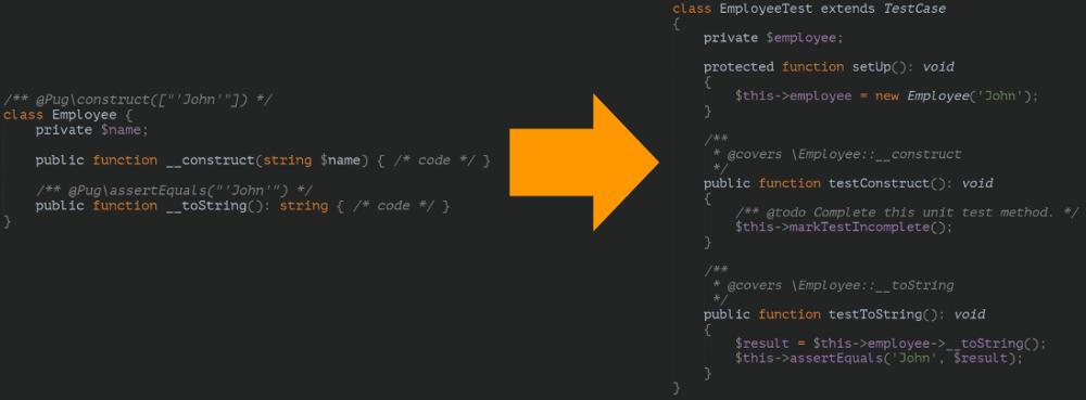 Image of PhpUnitGen rendering
