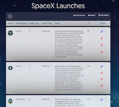 SpaceX Flights