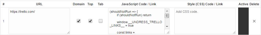 Custom script instruction