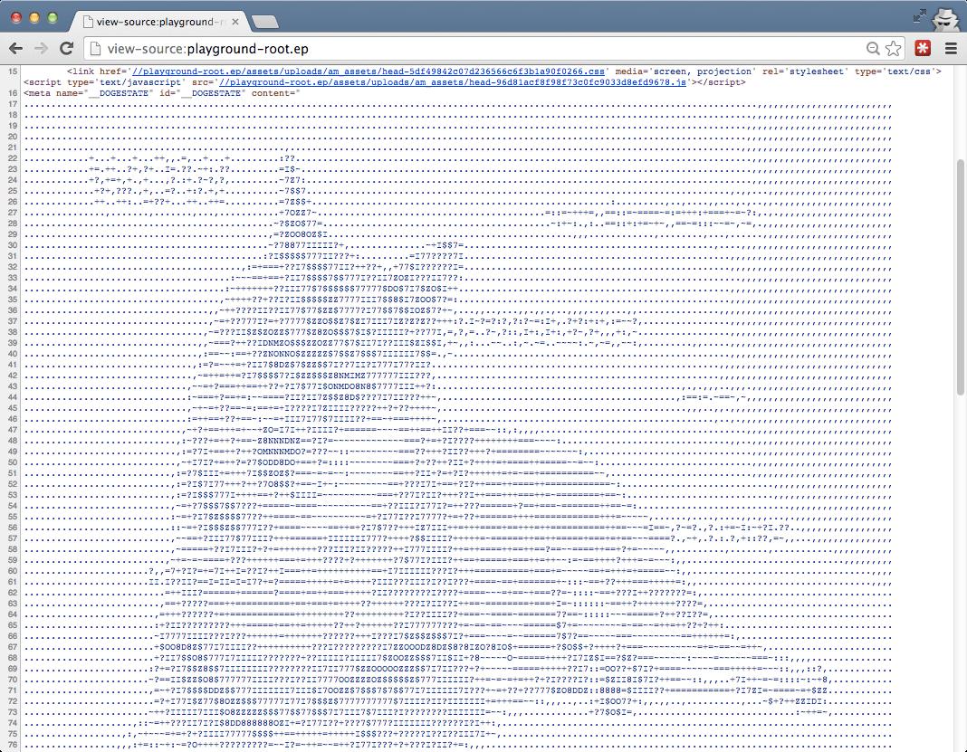 Screenshot of the Doge-state plugin for WordPress