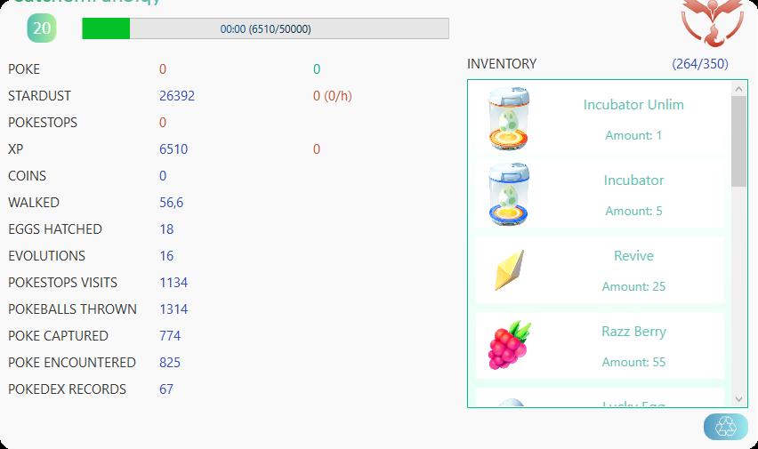 687474703a2f2f692e696d6775722e636f6d2f396e304b3861762e706e67 - Pokemon GO 外掛 - CATCHEM v1.6.2.0 支援多開、具人性化防鎖設置、精緻的圖形介面,還有繁體中文版