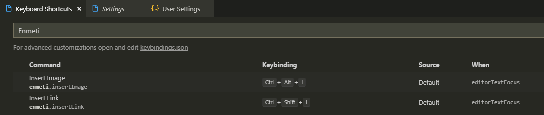Keybindings.json