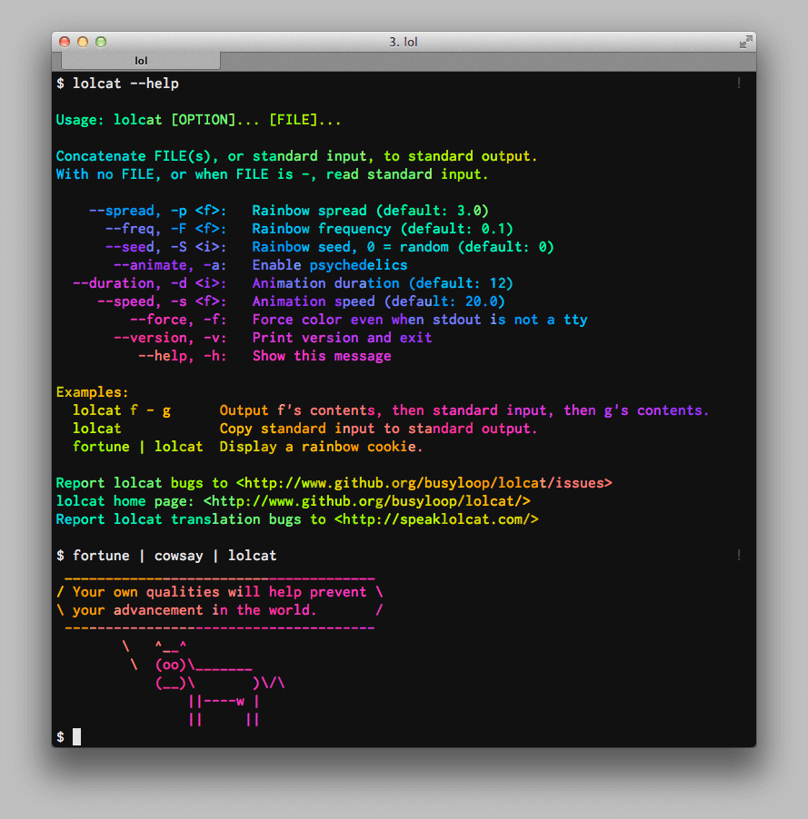 lolcat preview