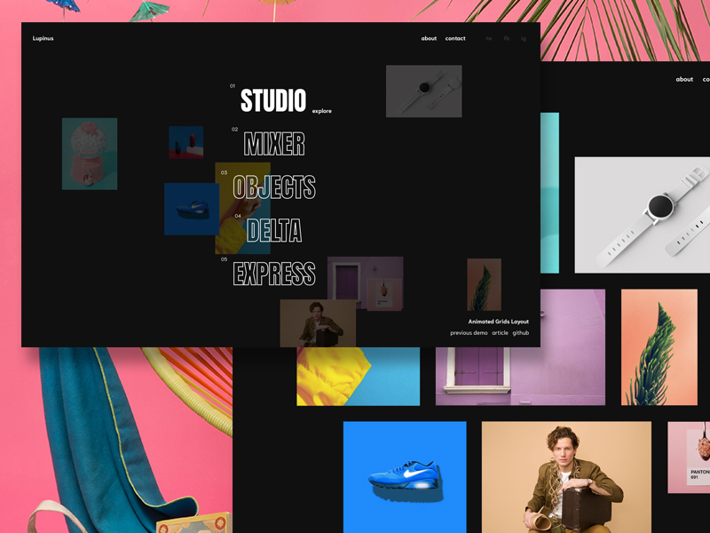 Animated Grids Layout