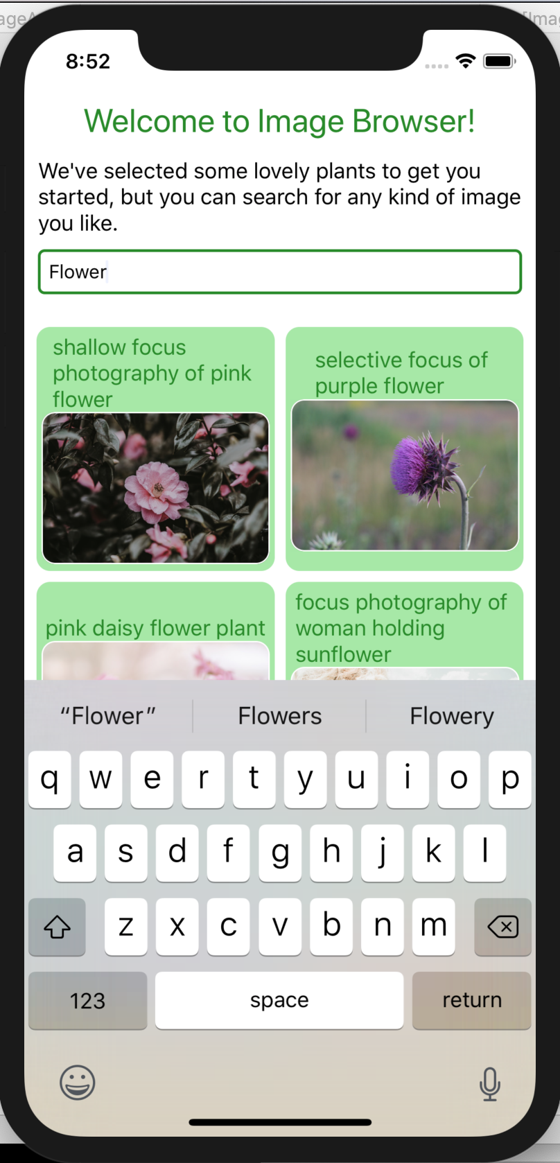 User Input, iOS