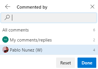 Commit filter
