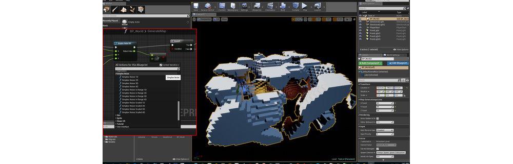 SimplexNoise UE4 Plugin Screenshot