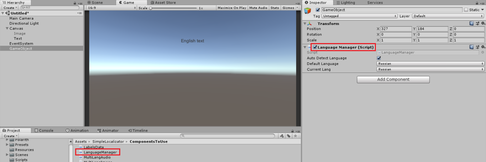 GitHub - alexdebur/Unity-Simple-Localizator: Simple
