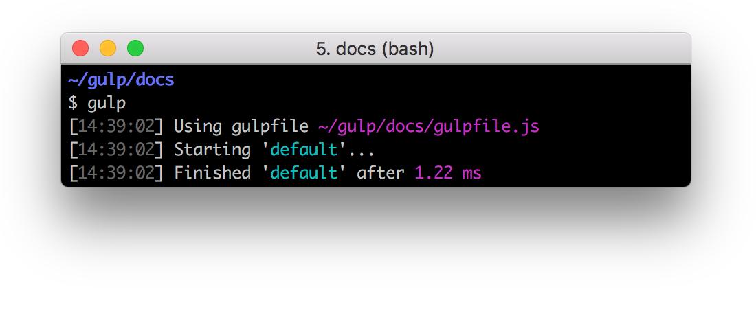 Output: Starting default & Finished default