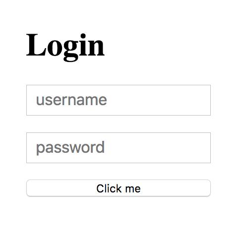 Bad login sample
