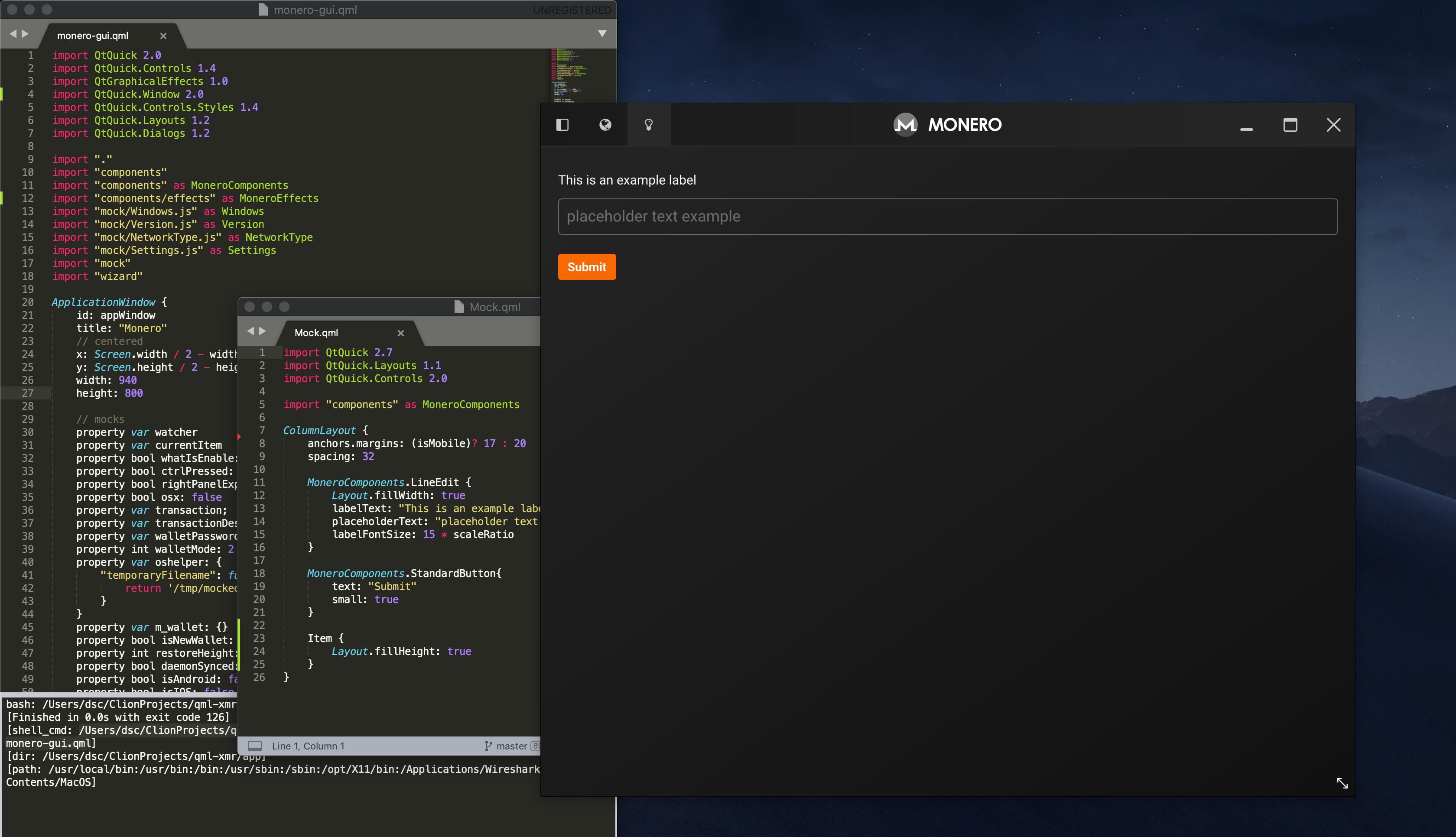 GitHub - monero-ecosystem/qml-xmr: Mock QML components for Monero-GUI