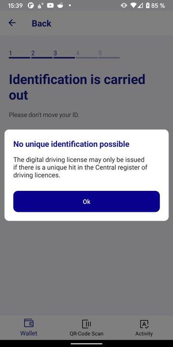 No unique identification possible