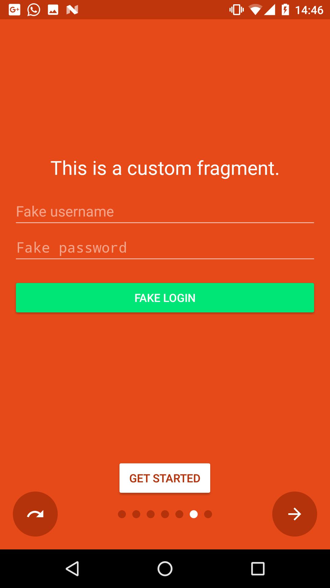 Custom slide