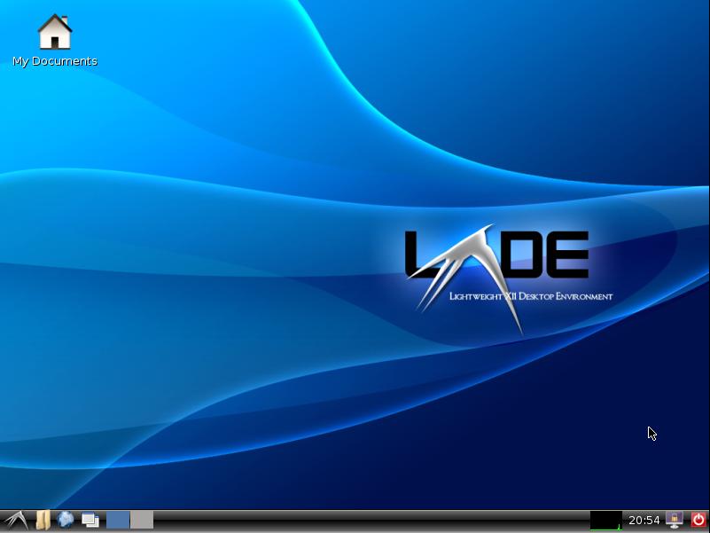 Tampilan desktop LXDE