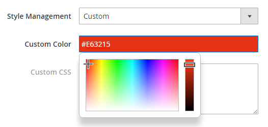 custom color social login